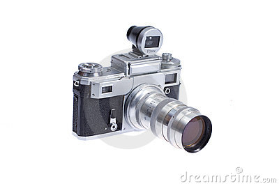 Rangefinder camera with additional viewfinder