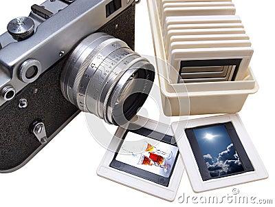 Rangefinder camera and slade