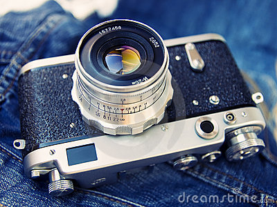 Rangefinder film camera