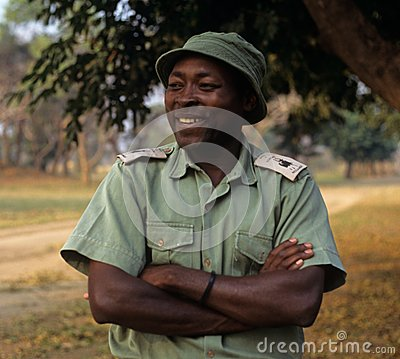 A ranger at the Gorongosa National Park Editorial Stock Photo