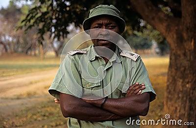A ranger at the Gorongosa National Park Editorial Stock Image