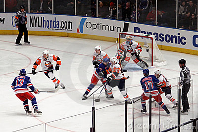 Rangers x Islanders Hockey Game Editorial Photography