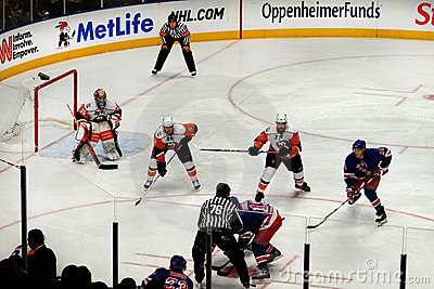 Rangers x Islanders Ice Hockey Game Editorial Stock Image