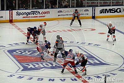 Rangers x Islanders Ice Hockey Game Editorial Stock Photo