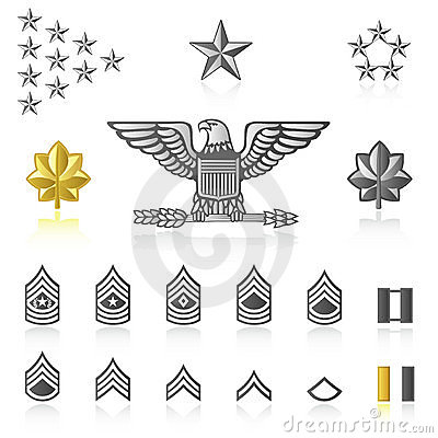 Free Rank Icons : Army And Military Stock Photos - 1809343