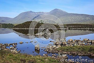 Rannoch moor loch landscape highlands scotland