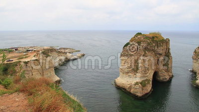 Raouche skała w Liban zbiory wideo