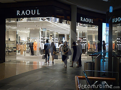 Raoul retail store Editorial Stock Photo