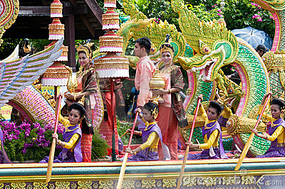 Rap Bua festival in Thailand Editorial Stock Image