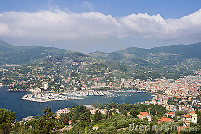 Rapallo and the gulf of Tigullio
