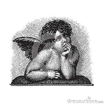 Raphael s Love Cherub (vector)