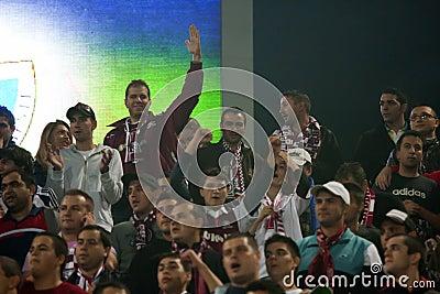 Rapid Bucharest Football Fans Editorial Photo