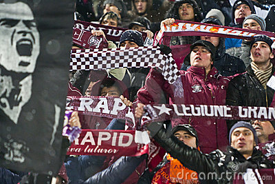 Rapid Bucharest Football Fans Editorial Image
