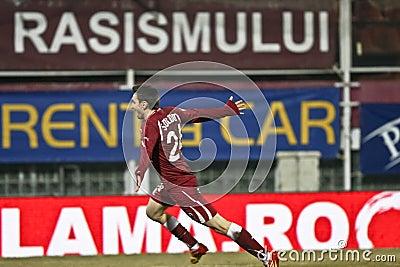 Rapid Bucharest Football Fans Editorial Photography
