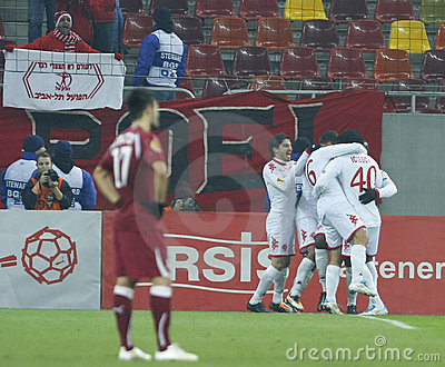Rapid Bucharest -Hapoel Tel-Aviv Editorial Stock Image