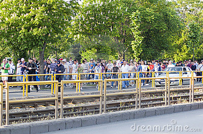 Rapid Bucharest supporters Editorial Stock Image