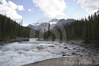 Rapid mistaya river
