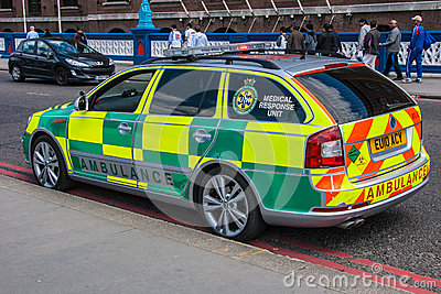 Rapid Response Ambulance Editorial Photo