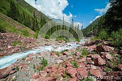 Rapid river Kegety, Tien Shan, Kyrgyzstan