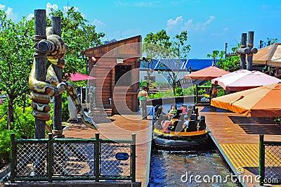 the rapids ocean park, hong kong Editorial Stock Photo