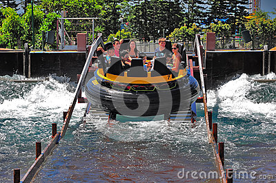 The rapids at ocean park, hong kong Editorial Stock Image