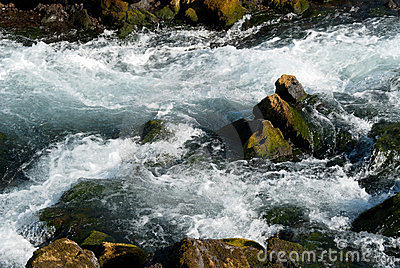 Rapids in the river in Iceland