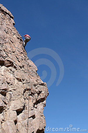 Rappelling a Stone Cliff