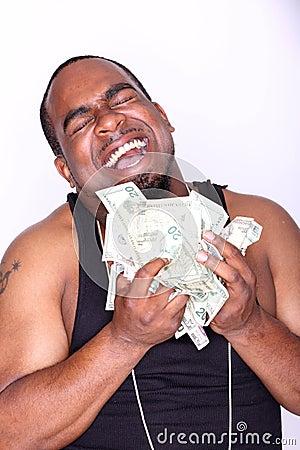 Rapper with cash