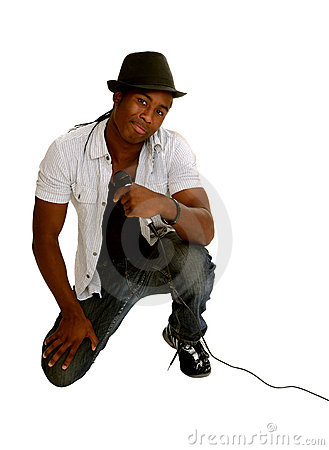 Rapper Singer with Microphone