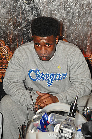 Rapper Tempa T parties in Tup Tup Palace Editorial Stock Image