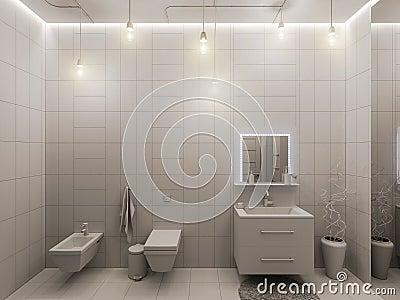 rappresentazione d di un interior design del bagno per i bambini, Disegni interni