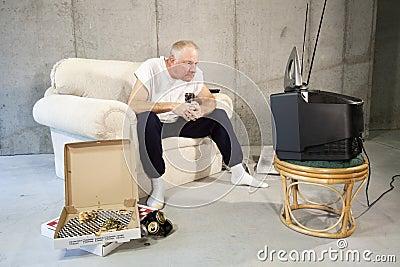 Rapt TV Watcher