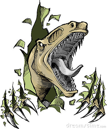 Raptor dinosaur Vector