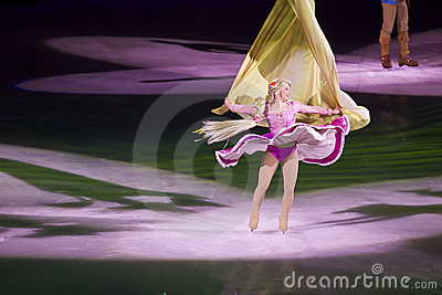 Rapunzel dances in Disney on Ice Editorial Stock Image