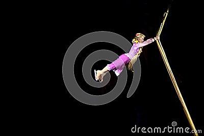 Rapunzel danse à Disney sur la glace Photo éditorial