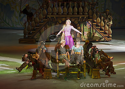 Rapunzel performs in Disney on Ice Editorial Stock Photo