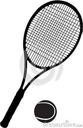 Raquette et bille de tennis images libres de droits - Dessin raquette ...