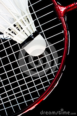 Raquette et birdie de badminton