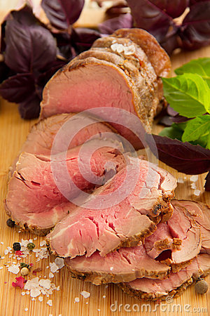 Rare Cooked Beef Roast
