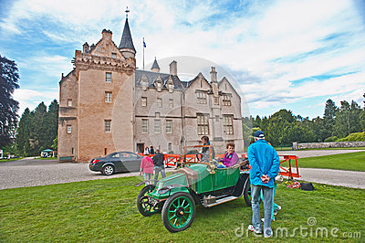 Rare French car at Brodie Castle. Editorial Stock Image