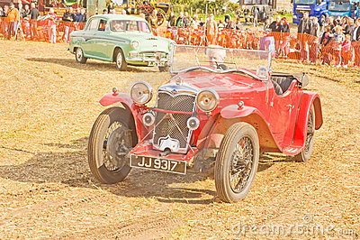 A rare Riley  Sports car on show at Roseisle. Editorial Photography