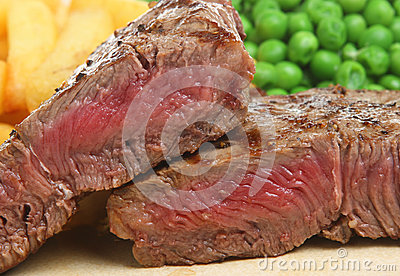 Rare Sirloin Beef Steak