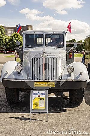 Rare Soviet Russian Cargo truck brand GAZ Editorial Image