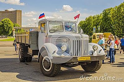 Rare Soviet Russian Cargo truck brand GAZ Editorial Photography