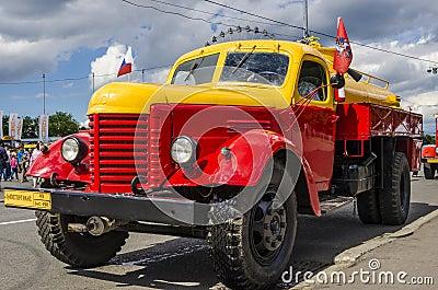 Rare Soviet Russian   gasoline tanker brand GAZ Editorial Stock Image