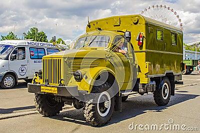 Rare Soviet Russian War truck brand GAZ Editorial Photo
