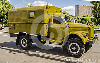 Rare Soviet Russian War truck brand GAZ Editorial Photo