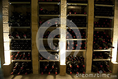 Rare wine bottles in magnum bottles in Bordeaux