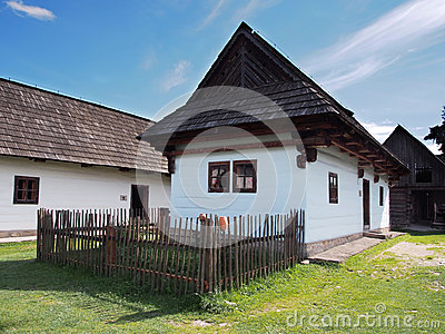 Rare wooden folk house in Pribylina