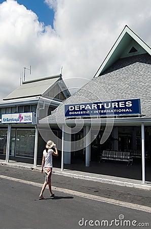 Rarotonga International Airport - Cook Islands Editorial Photography